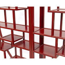 home decorators collection promo code round elm bookcase oriental lacquer bookshelves red orchid pin it