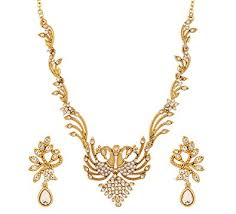 fancy earing buy dg jewels presents stylish american diamond necklace set cz