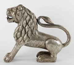 silver lion statue an important and indian silver lion 4th auction