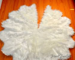faux fur tree skirt tree decor white sheepskin faux