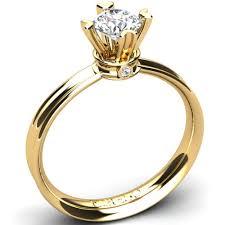 inel diamant inel de logodna cu diamant tip catedrala prins in 4 gheare firesq