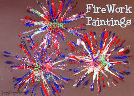 firework painting u2013 juggling with kids