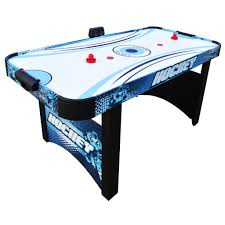harvil 5 foot air hockey table with electronic scoring amazon com hathaway enforcer air hockey table 5 5 sports