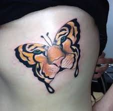 tiger butterfly on the thigh tigerbutterfly tattoos