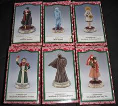 a carol charles dickens figurines complete set of 6