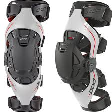 bicycle riding jackets pod k4 grey red knee brace set mxstore picks protective gear