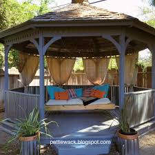 get wacky and crafty with pattiewack gazebo make over diy curtains