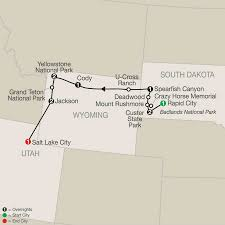 Badlands National Park Map National Parks Tour America Vacation Packages Usa Globus