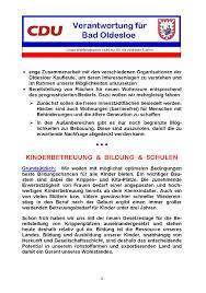Wohnungen Bad Oldesloe Unser Programm Cdu Cdu Stadtverband Bad Oldesloe