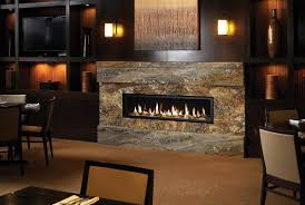 linear fireplace boulevard curved burner seethrough vent free
