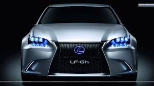 blue light on car lexus lf gh hybrid concept front pose with blue lights wallpaper