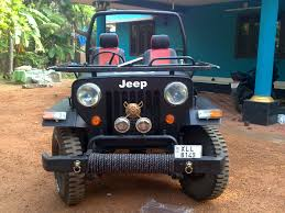 modified jeep mahindra cj 500d my modified jeep got bull bars