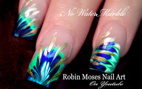 robin moses nail art 3 different marble nail art without using no