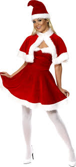 santa costumes miss santa costume 33317 fancy dress