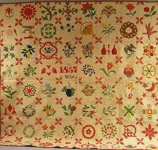 sentimental stitches the 1857 album quilt