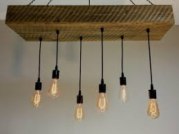 Edison Bulb Pendant Light Fixture by Buy Hand Crafted Reclaimed Barn Wood 1 2 Beam Chandelier Light