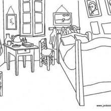 gogh chambre arles coloriages la chambre de gogh à arles fr hellokids com