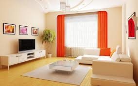 living room small space white curtain large glass windows