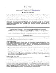Sample Resume For Maintenance Engineer by 49 Best Management Resume Templates U0026 Samples Images On Pinterest
