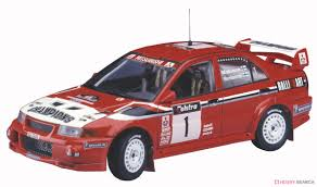mitsubishi race car mitsubishi lancer evolution vi 1999 wrc drivers champion model