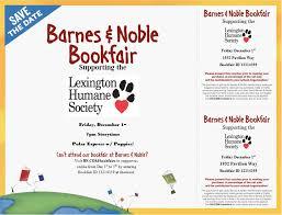 Barnes And Nobles Membership Barnes U0026 Noble Bookfair To Benefit Lhs Lexington Humane Society