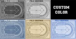 what size paper are blueprints printed on vintage print of polo grounds seating chart new york giants