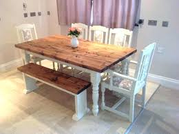 Dining Room Chairs And Benches Rustic Dining Tables With Benches Large Size Of White Rustic