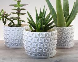 modern planter modern home decor gift geometric succulent pots