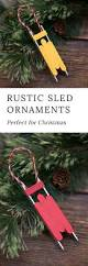 how to make a rustic wooden sled ornament