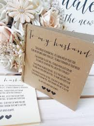 to my on our wedding day card vintage rustic to my husband wedding day poem card show him our