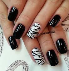 zebra pattern nail art glossy nails with accent zebra print nail art