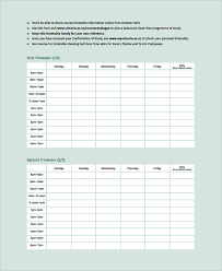 sample weekly timetable template 9 free documents download in
