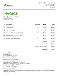 word invoice template the letter sample