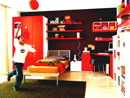 children bedroom car themed boys ideas bunk bed with red storage