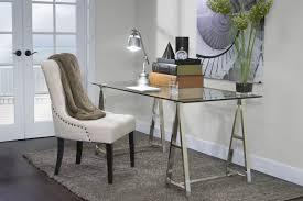 Glass Desk Table Mor Furniture For Less The Architect Glass Desk Mor Furniture