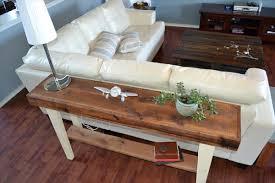 Diy Sofa Table Pallet Wood Sofa Table Www Elderbranch