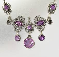 amethyst necklace silver images Edwardian antique silver filigree amethyst necklace italian boylerpf jpg