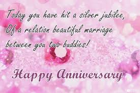 25th Anniversary Wishes Silver Jubilee Happy Anniversary Wishes For Silver Jubilee Celebration Nicewishes