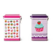 cupcake canisters for kitchen new quality culinary pink cupcake kitchen hinged jar home decor