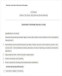 Assistant Teacher Duties For Resume Free Teacher Resume 40 Free Word Pdf Documents Download Free