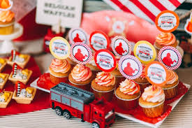 firefighter cupcake toppers kara s party ideas rustic firefighter birthday party kara s