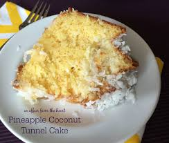 pineapple coconut tunnel cake an affair from the heart