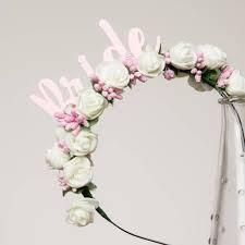 white flower headband hen party hen do hen flower headband gift by funky