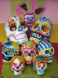 Day Of The Dead Masks Day Of The Dead Art A Gallery Of Colorful Skull Art Celebrating