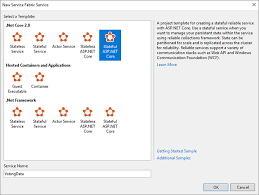 tutorial asp net core 2 0 create a net application for service fabric microsoft docs