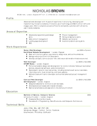 Resume Work History Examples by Resume Sample Employment Resume