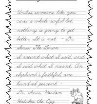 handwriting worksheet bundle dr suess quotes in d u0027nealian