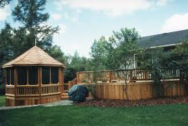 Decks With Attached Gazebos by Enclosed Attached Gazebo For A Custom Deck Or Gazebo Estimate E