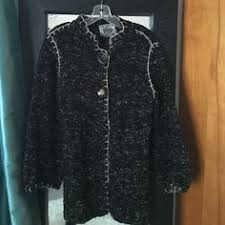curio tan black duster sweater sz medium here is another