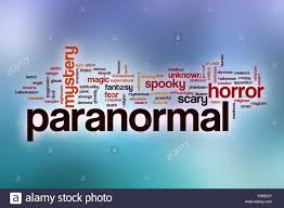 word halloween background paranormal word cloud concept with abstract background stock photo